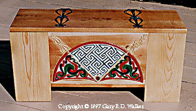 Celtic design chest